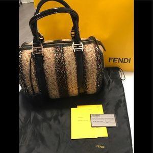 SOLD Authentic ✨Fendi Sequin Baulotto Boston Bag